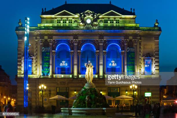 place de la comedie, montpellier, herault, occitanie, france - montpellier stock pictures, royalty-free photos & images