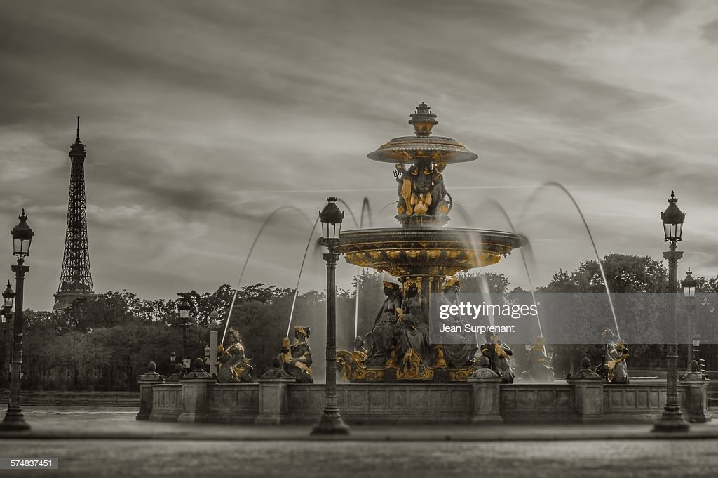Place de la Concorde B&W : Stock Photo