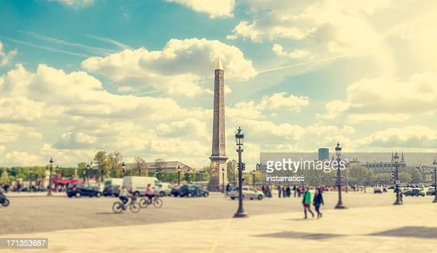 place de la concorde, in paris - place de la concorde stock pictures, royalty-free photos & images
