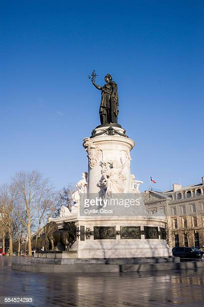 place de la republique - place de la republique paris stock photos and pictures