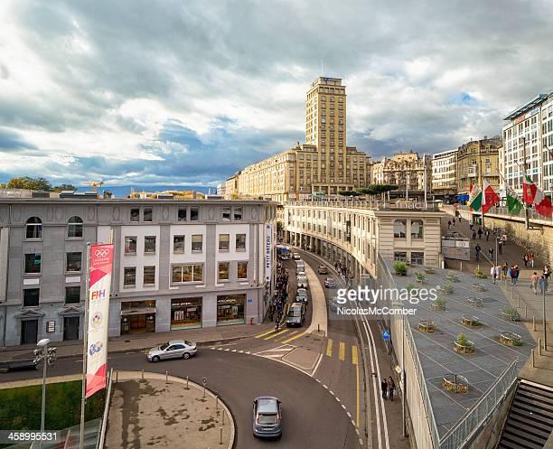 place de l'europe lausanne switzerland - lausanne stock pictures, royalty-free photos & images