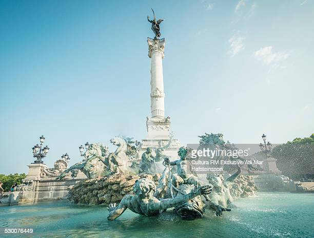 Place des Quinconces and Girondins monument,  Bordeaux, Aquitaine, France