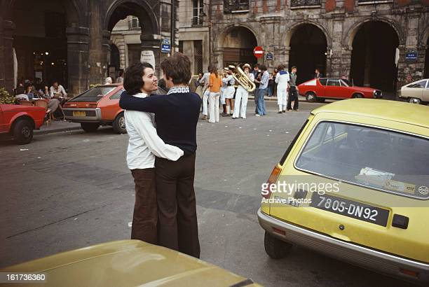 Place des Vosges in Le Marais Paris France 1975