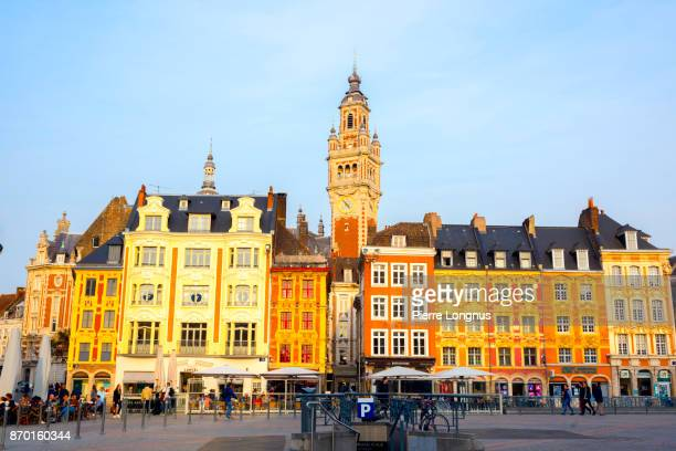 Place du Général-de-Gaulle (or Grand-Place) at sunset - city of Lille, North of France