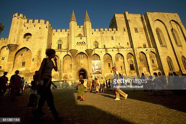 Place du Palais During Festival d'Avignon
