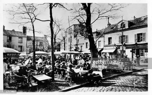 Place du Tertre Paris c 1920s Street view