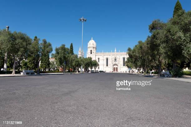 Place in front of the Jeronimos Monastery in Lisbon
