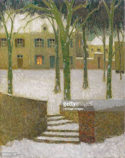 Place in Nemours, 1930. Private Collection. Artist : Le Sidaner, Henri .