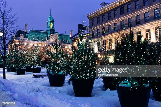 place jacques cartier and city hall, quebec, canada - place jacques cartier stock pictures, royalty-free photos & images