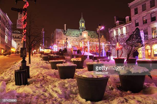 Place Jacques-Cartier in Montreal during Winter