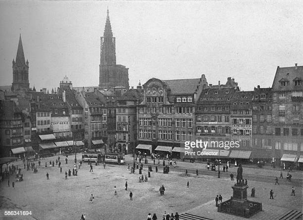 Place Kleber Strasbourg France 1923 View of the side opposite the Aubette with the Rue des Grandes Arcades at the left From The Architectural Forum...