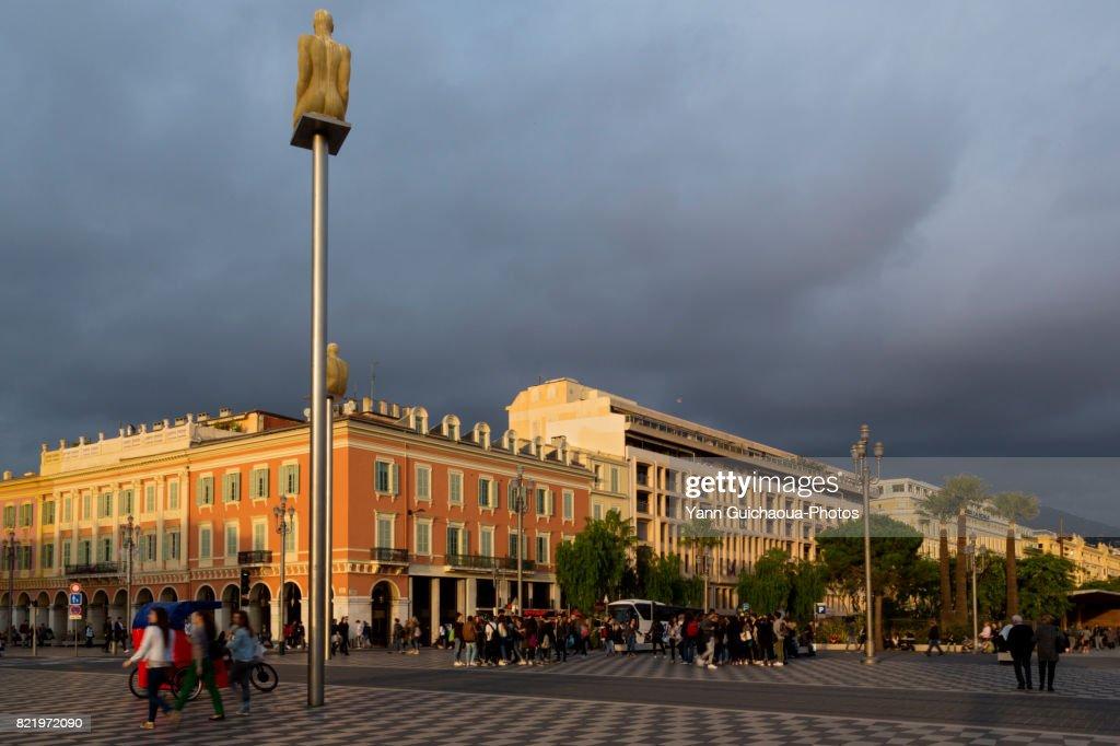 Place Massena, Nice, Alpes Maritimes, Paca, France : Stock Photo