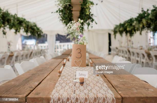 place number for wedding table decoration - wedding stock pictures, royalty-free photos & images