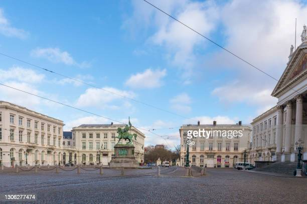 """place royale brussels - """"sjoerd van der wal"""" or """"sjo"""" stock pictures, royalty-free photos & images"""