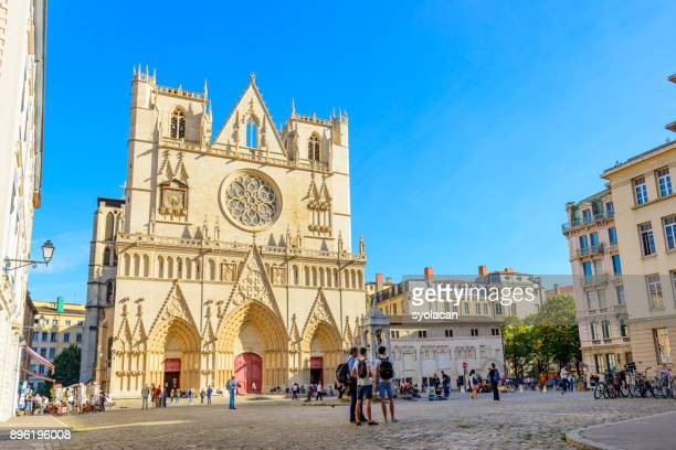 place saint-jean in lyon - syolacan stock pictures, royalty-free photos & images
