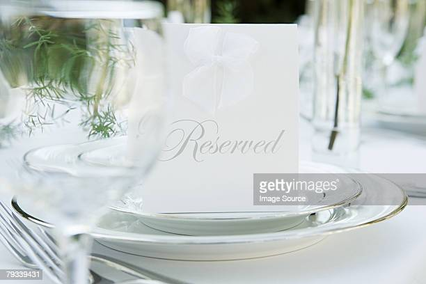 place setting at a wedding - name tag stock photos and pictures