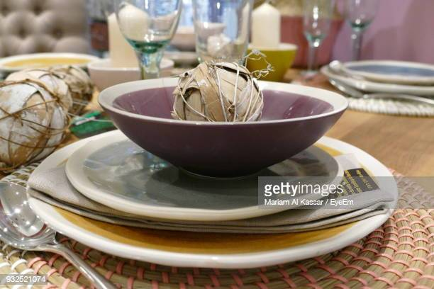Place Setting On Table