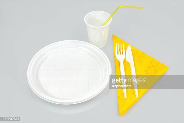 place setting - paper plate stock photos and pictures
