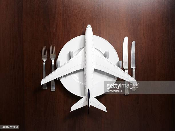 Place setting with airplane