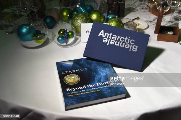 Place settings at a Christmas Dinner With Eugene Kaspersky on November 30 2017 in Amsterdam Netherlands