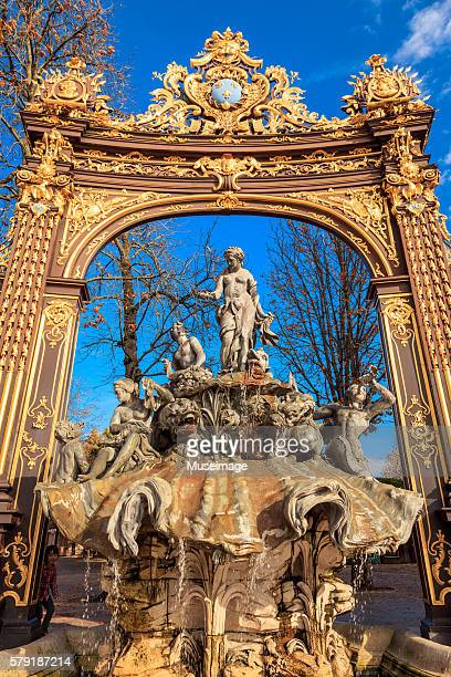 place stanislas – fountain of neptune - nancy stock pictures, royalty-free photos & images