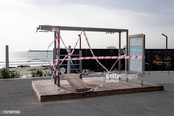Place to do some sport prohibited by the municipal chamber of Matosinhos, Porto, Portugal, on March 22, 2020. Given the pandemic covid-19, the state...