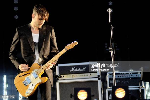 Placebo guitarist Stefan Olsdal performs on stage on day 2 of Pinkpop at Megaland on May 31, 2009 in Landgraaf, Netherlands.
