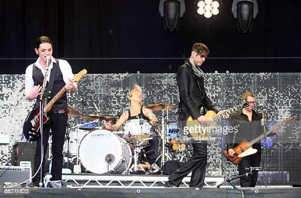 Placebo perform on stage on day 2 of Rock Im Park at Frankenstadion on June 6, 2009 in Nuremberg, Germany.