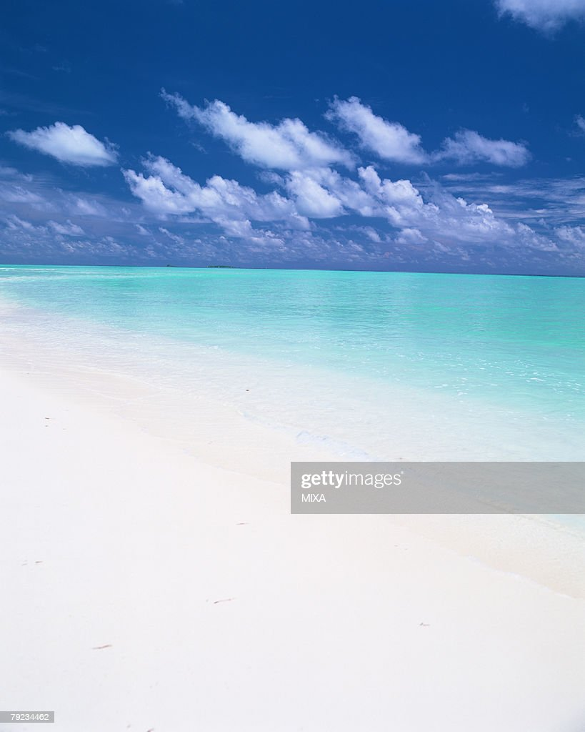 Placid seascape in Maldives : Stock Photo