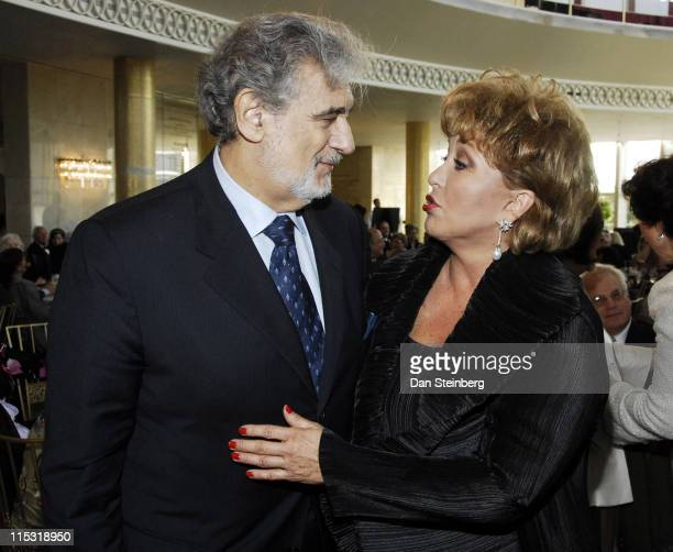 Placido Domingo and Guest during Placido Domingo Awards Dinner at Dorothy Chandler Pavilion in Los Angeles, California, United States.