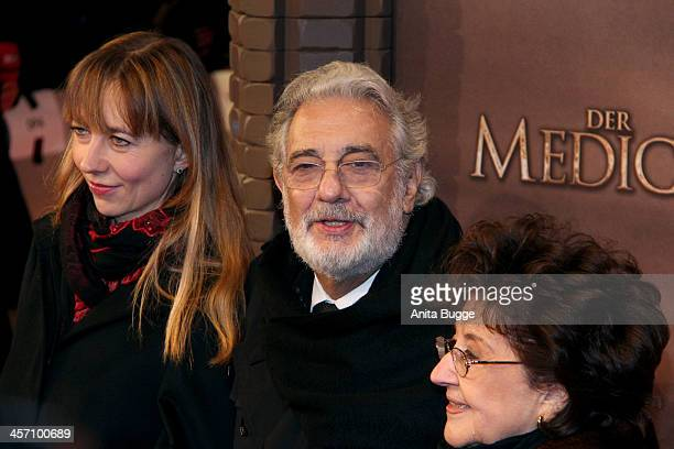 """Placido Domingo and his wife Marta Ornelas and guest attends the """"The Physician"""" German premiere at Zoo Palast on December 16, 2013 in Berlin,..."""