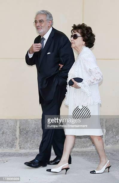 Placido Domingo and his wife Marta Ornelas attend 'Camino Real' Award to doctor Valentin Fuster Placido Domingo reveived this award last year at...