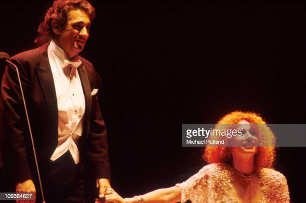 Placido Domingo and Julia Migenes perform on stage London 1991