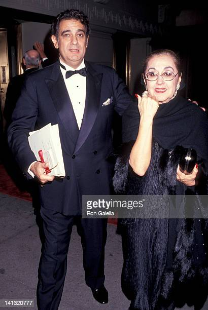 Placido Domingo and Marta Ornelas at the Elie Wiesel Humanitarian Awards Honoring King of Spain Pierre Hotel New York City