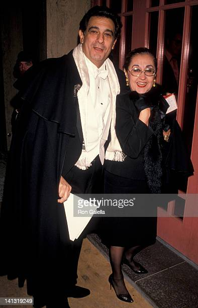 Placido Domingo and Marta Ornelas at the Music for Life Gala Concert Benefit Carnegie Hall New York City