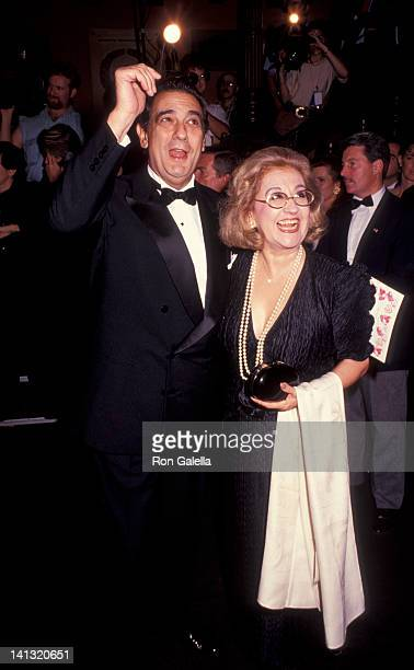 Placido Domingo and Marta Ornelas at the ValentinoThirty Years of Magic Gala Retrospective 67th Street Armory New York City