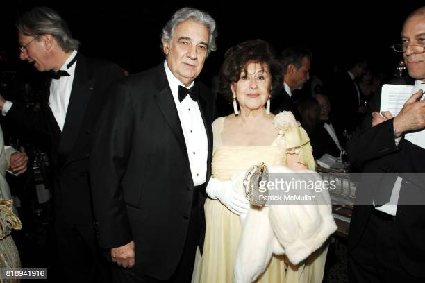 Placido Domingo and Marta Ornelas attend EL MUSEO'S 2010 Annual Gala at Cipriani 42nd Street on May 27th 2010 in New York City