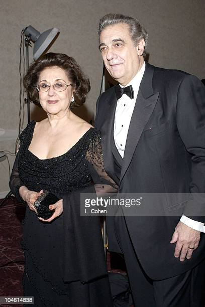 Placido Domingo and wife Marta during Placido Domingo honored with the 11th Annual ELLA Award at Beverly Hilton Hotel in Beverly Hills California...