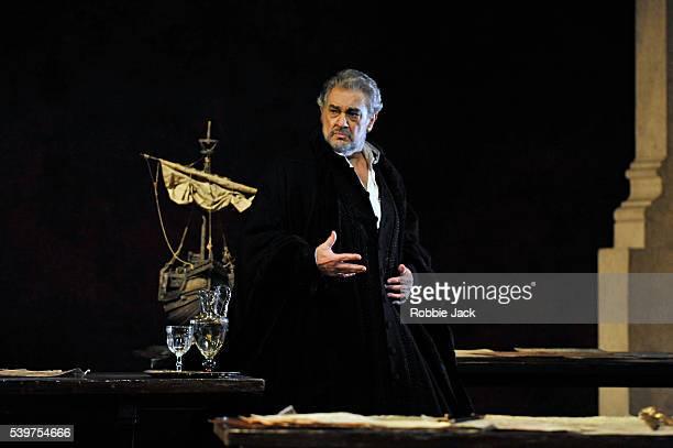 Placido Domingo as Simon Boccanegra in the Royal Opera's production of Giuseppe Verdi's Simon Boccanegra directed by Elijah Moshinsky and conducted...