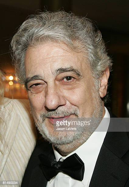 """Placido Domingo at the """"La Rondine"""" L.A. Opera Opening Night at the Dorothy Chandler Pavilion on June 7, 2008 in Los Angeles, California."""