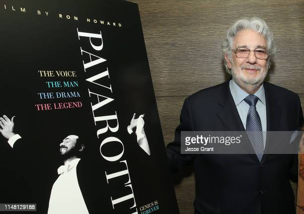 Placido Domingo attends a special screening of Pavarotti on May 09 2019 in Los Angeles California