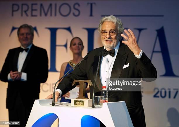 Placido Domingo attends Arts Sciences and Sports Telva Awards 2017 at Palau de Les Arts Reina Sofia on July 12 2017 in Valencia Spain
