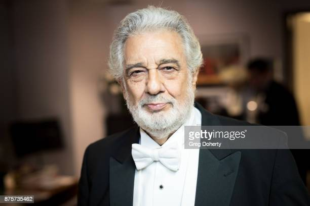 Placido Domingo attends his Placido Domingo 50th Anniversary Concert at Dorothy Chandler Pavilion on November 17 2017 in Los Angeles California
