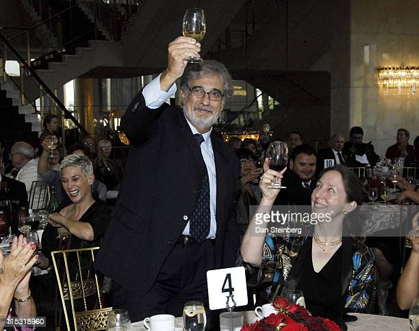Placido Domingo during Placido Domingo Awards Dinner at Dorothy Chandler Pavilion in Los Angeles, California, United States.