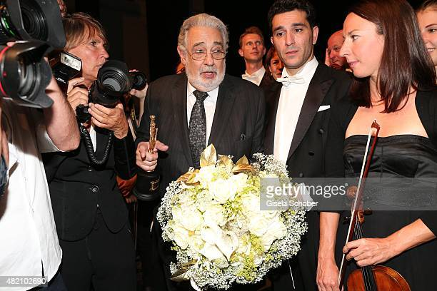 Placido Domingo during the 'Die Goldene Deutschland' Gala on July 26 2015 at Cuvillies Theater in Munich Germany