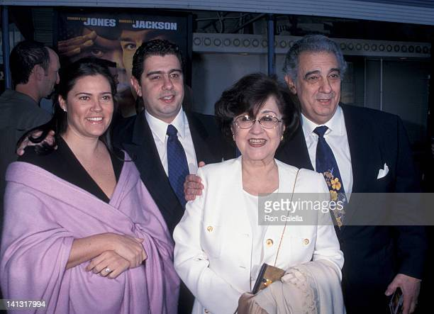 Placido Domingo Marta Ornelas and family at the World Premiere of 'Rules of Engagement' Mann Village Theater Westwood