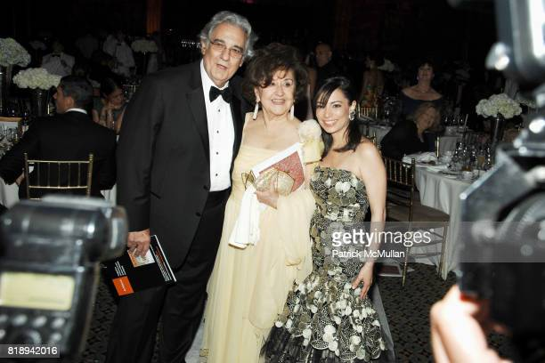 Placido Domingo Marta Ornelas and Nazira Handal attend EL MUSEO'S 2010 Annual Gala at Cipriani 42nd Street on May 27th 2010 in New York City