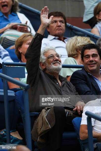 Placido Domingo on Day three of the Us Open 2017 at USTA Billie Jean King National Tennis Center on August 30 2017 in New York City
