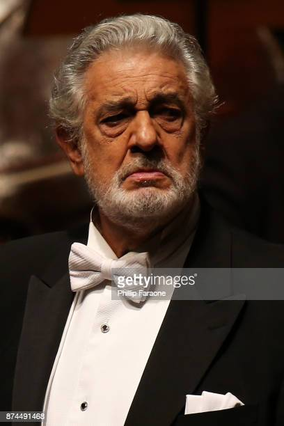 Placido Domingo performs onstage during LA Opera's Nabucco in Concert starring Placido Domingo at Musco Center for the Arts on November 14 2017 in...