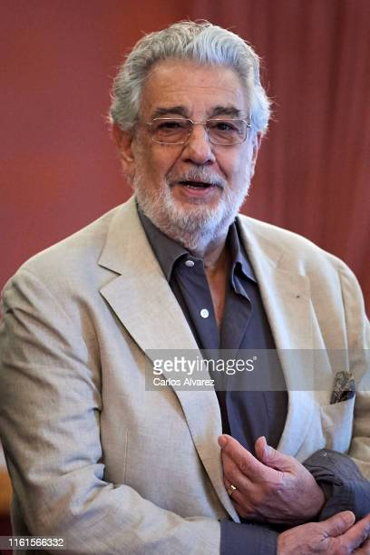 Placido Domingo presents Giovanna d'Arco at the Royal Theater on July 12 2019 in Madrid Spain